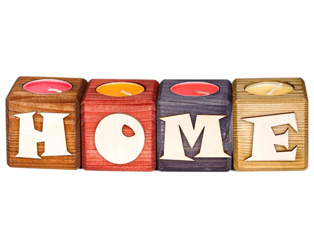Набор подсвечников со свечами Qrona Home Mix CNDL-04-02