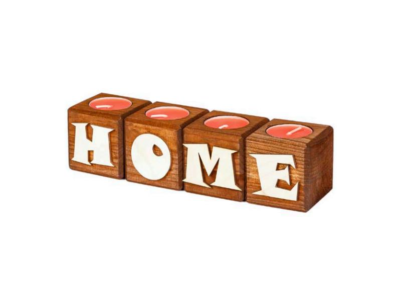 Набор подсвечников со свечами Qrona Home Mocha CNDL-04-05