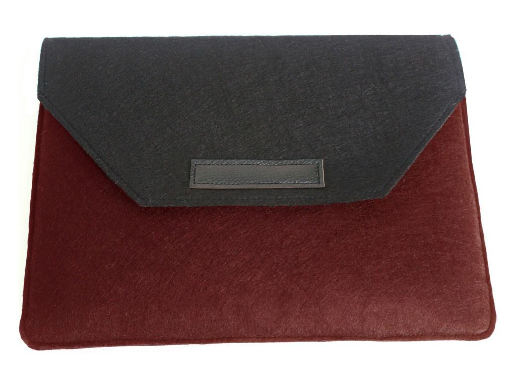 Аксессуар Чехол-папка 12-13.3-inch Vivacase для MacBook Felt Black-Red VCN-FELT133-bl-red фото