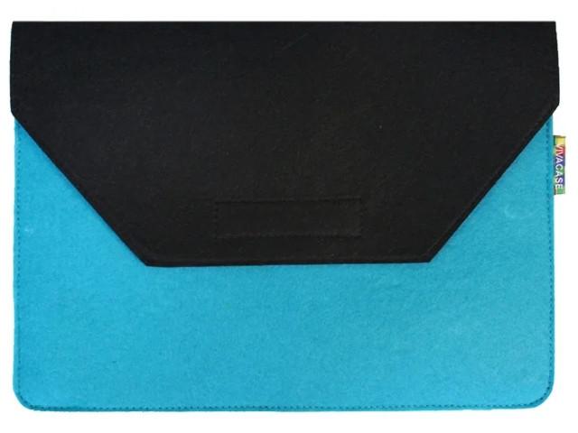 Аксессуар Чехол-папка 12-13.3-inch Vivacase для MacBook Felt Black-Light Blue VCN-FELT133-bl-blue vivacase smart чехол обложка для pocketbook 650 black vpb p6sm01 bl