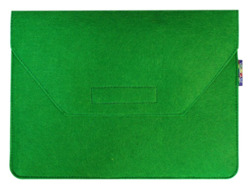 Аксессуар Чехол-папка 12-13.3-inch Vivacase для MacBook Felt Green VCN-FELT133-green