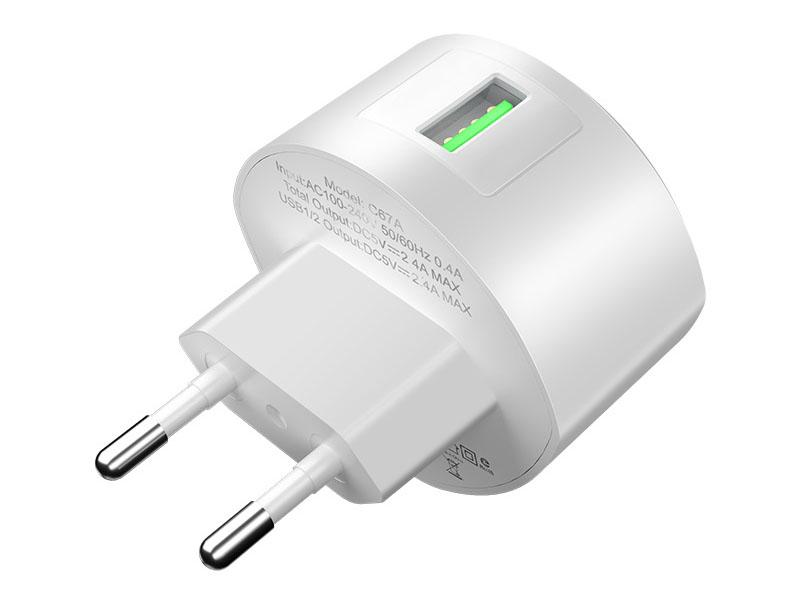 Зарядное устройство Hoco C68A Shell QC3.0 White 108966 зарядное