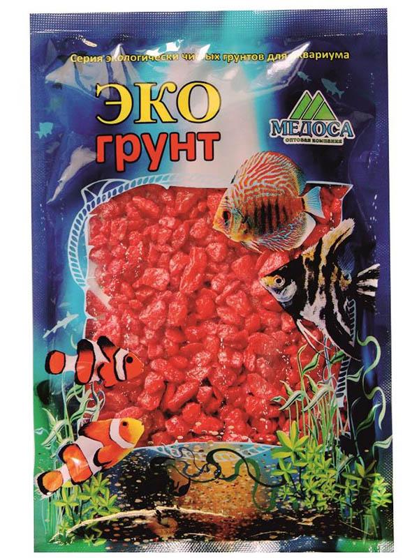 Цветная мраморная крошка Эко грунт 5-10mm 7kg Red 7-1034
