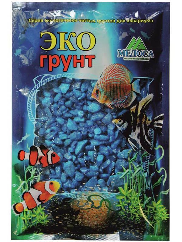Цветная мраморная крошка Эко грунт 5-10mm 7kg Light Blue 7-1036