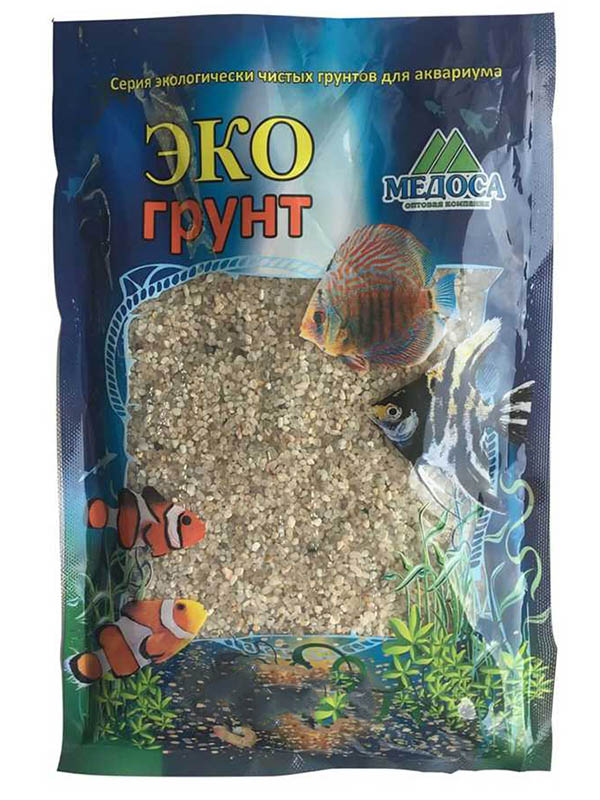 Натуральный кварцевый грунт Эко Куба-XL 2.0-5.0mm 7kg 7-1023