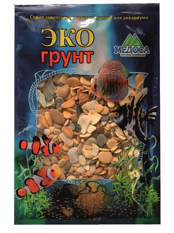 Галька Эко грунт Каспий №3 8-15mm 7kg 7-1010