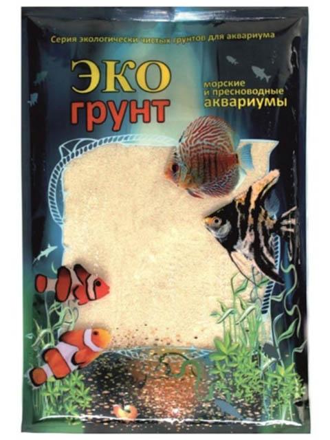 Кварцевый песок Эко грунт 0.3-0.9mm 1kg White 520010