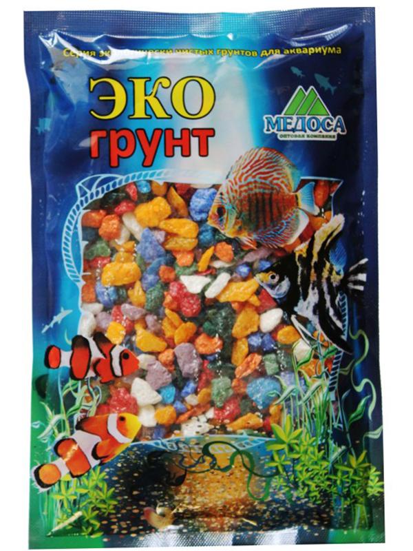 Цветная мраморная крошка Эко грунт 5-10mm 3.5kg Микс г-0267