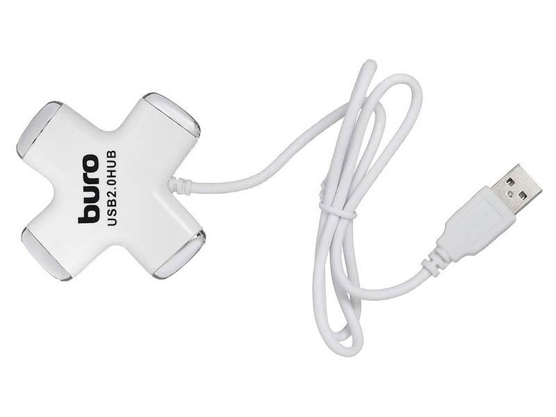 Хаб Buro USB2.0 4xUSB BU-HUB4-0.5-U2.0-Cross