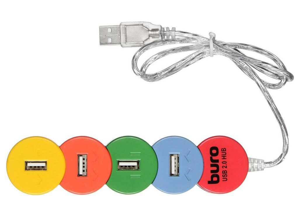 Хаб Buro USB2.0 4xUSB BU-HUB4-0.5-U2.0-Snake