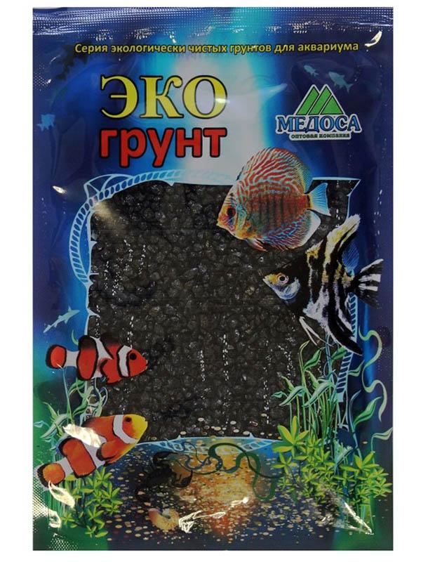 Цветная мраморная крошка Эко грунт 2-5mm 3.5kg Black г-1001