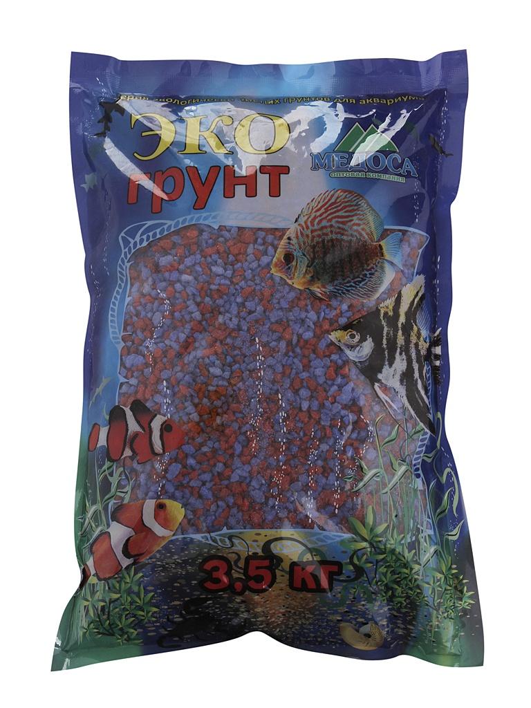 Цветная мраморная крошка Эко грунт 2-5mm 3.5kg Lilac/Red г-1076