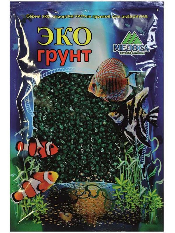 Цветная мраморная крошка Эко грунт 2-5mm 3.5kg Emerald г-1008