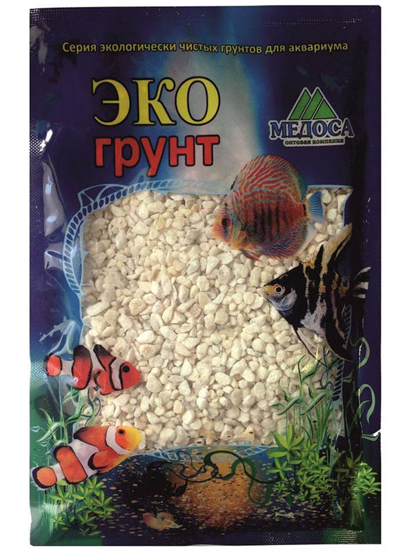 Мраморная крошка Эко грунт 2-5mm 3.5kg White г-0144