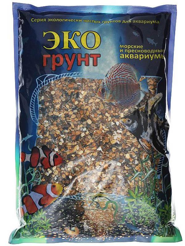Галька Эко грунт Каспий №1 2-4mm 3.5kg г-0069