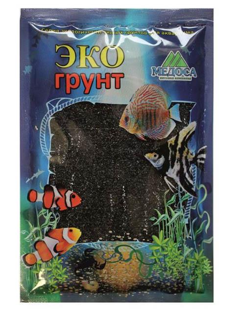 Цветной песок Эко грунт 0.5-1mm 1kg Black 500039