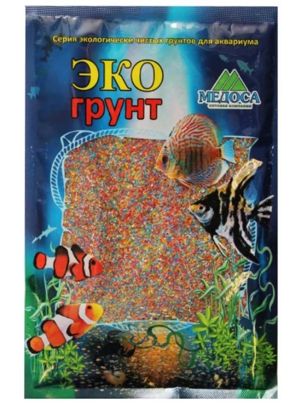 Цветной песок Эко грунт 0.5-1mm 1kg Микс 500041