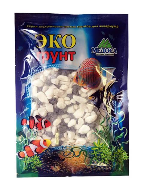 Цветная мраморная крошка Эко грунт №2 5-10mm 1kg Black/White 410014