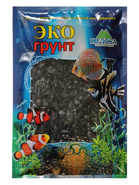 Цветная мраморная крошка Эко грунт 5-10mm 1kg Black 270016