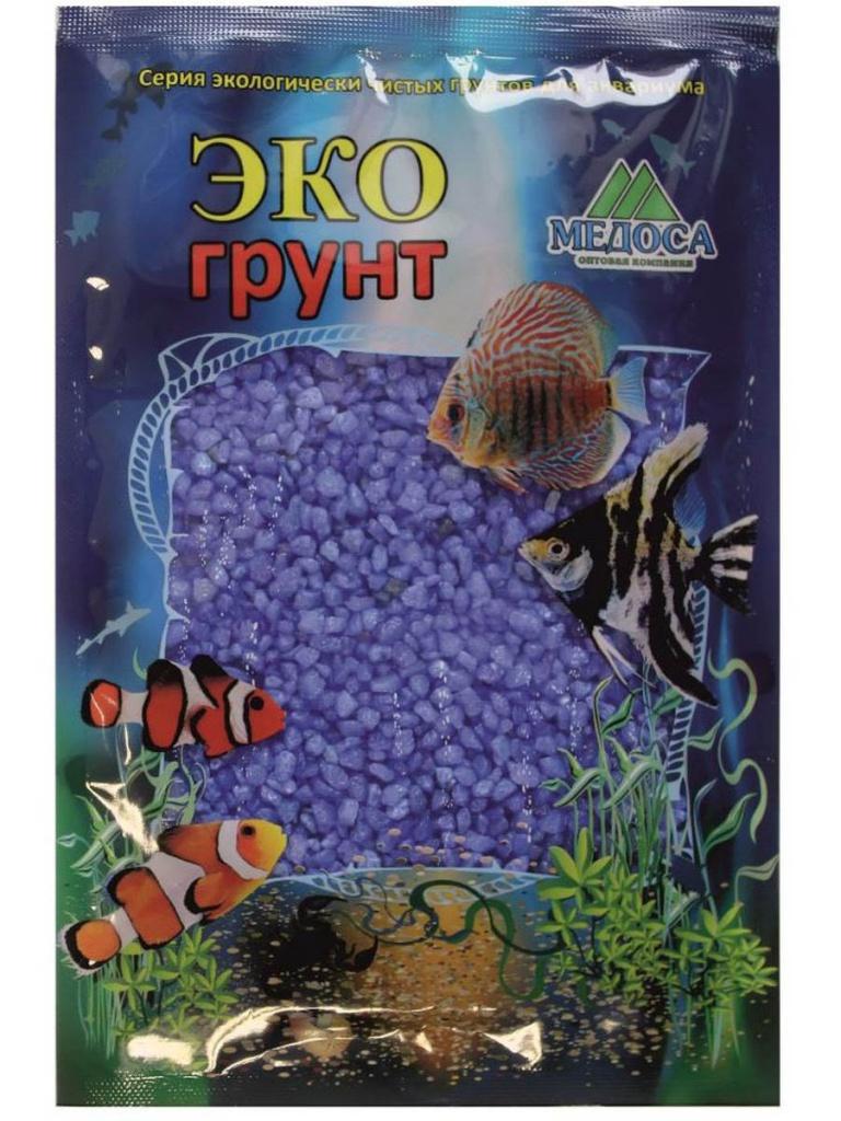 Цветная мраморная крошка Эко грунт 2-5mm 1kg Blue 500031