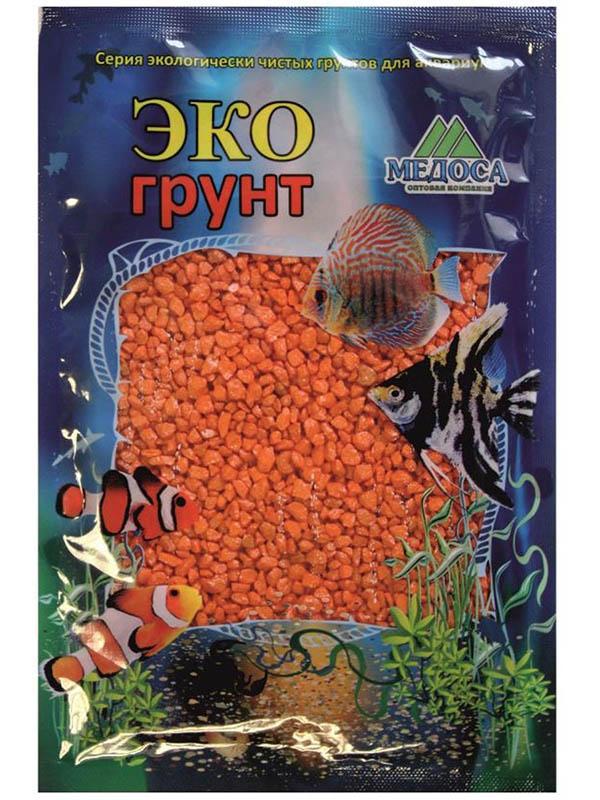 Цветная мраморная крошка Эко грунт 2-5mm 1kg Orange 500028