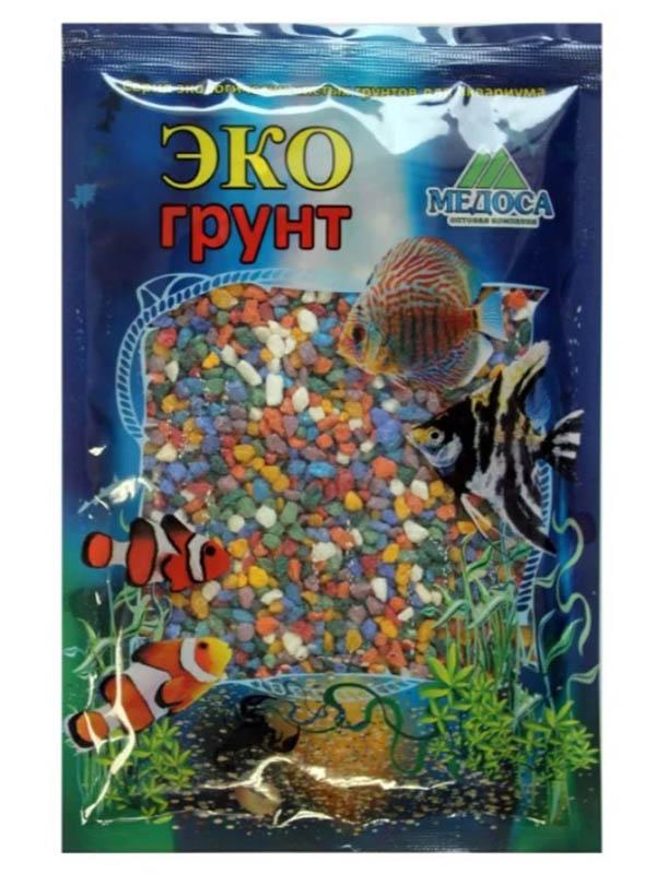 Цветная мраморная крошка Эко грунт 2-5mm 1kg Микс 500026