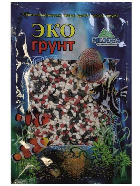 Цветная мраморная крошка Эко грунт 2-5mm 1kg Red/Black/White 500034