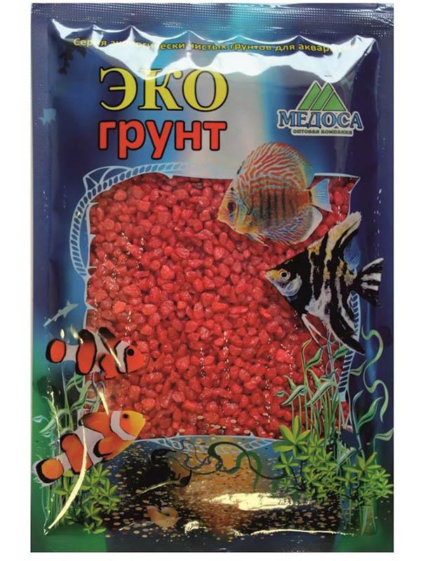 Цветная мраморная крошка Эко грунт 2-5mm 1kg Red 500027