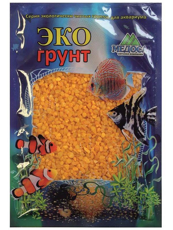 Цветная мраморная крошка Эко грунт 2-5mm 1kg Yellow 500029