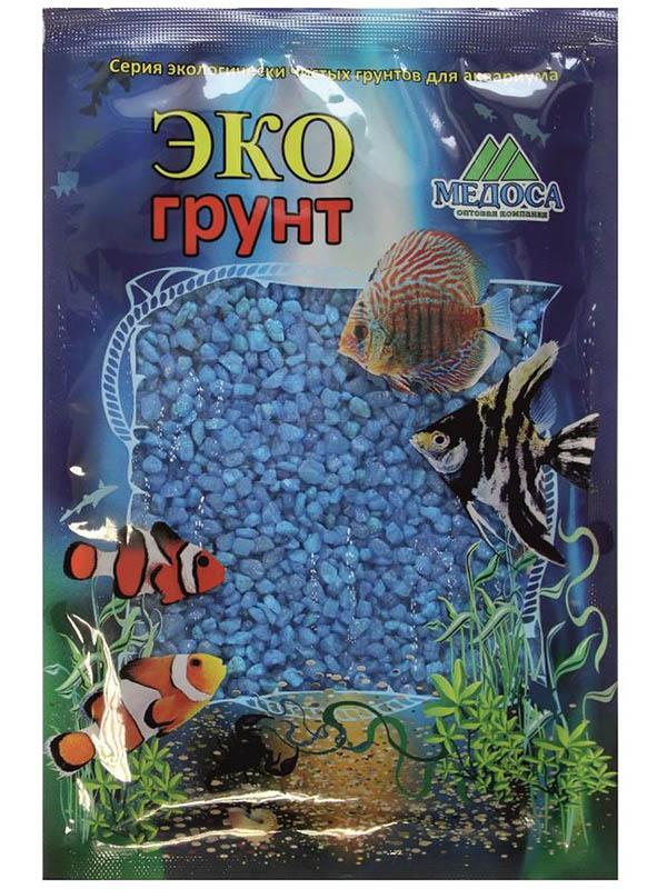 Цветная мраморная крошка Эко грунт 2-5mm 1kg Light Blue 500030