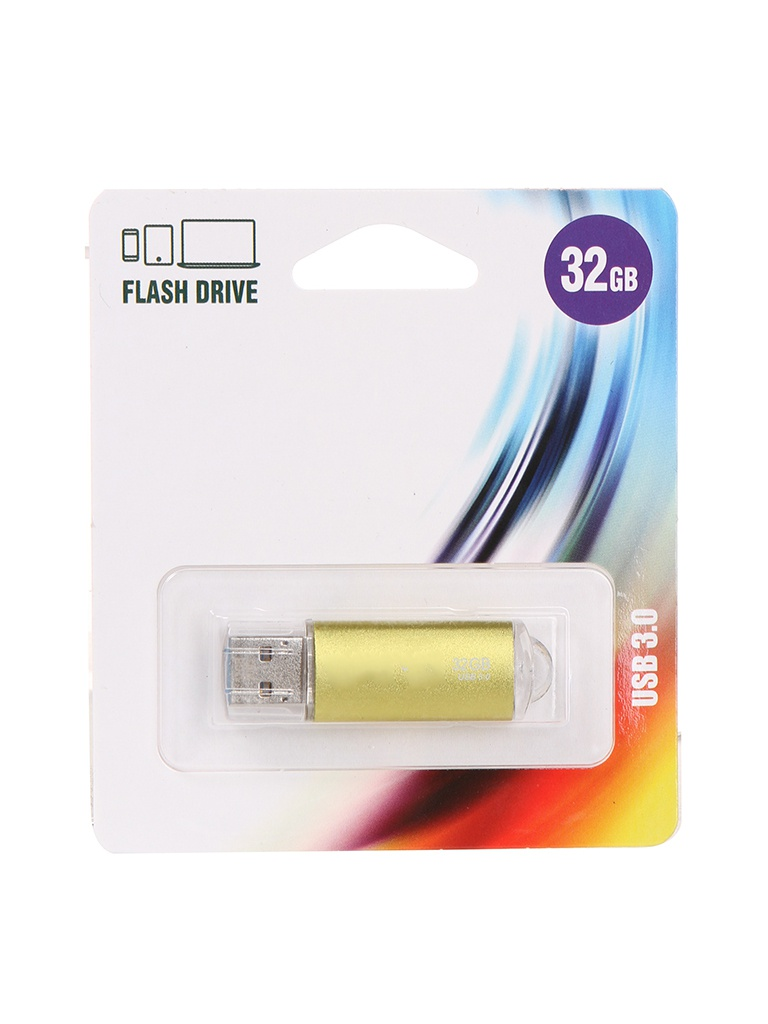 USB Flash Drive 32Gb - Perfeo C14 Metal Series Gold PF-E02Gl032ES