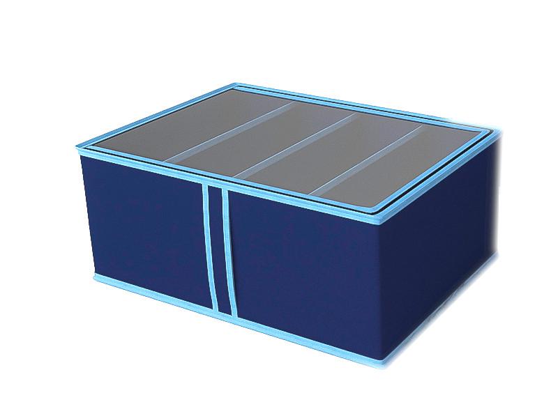 цена Короб для обуви Cofret Классик 48x34x20cm Blue 1733 онлайн в 2017 году