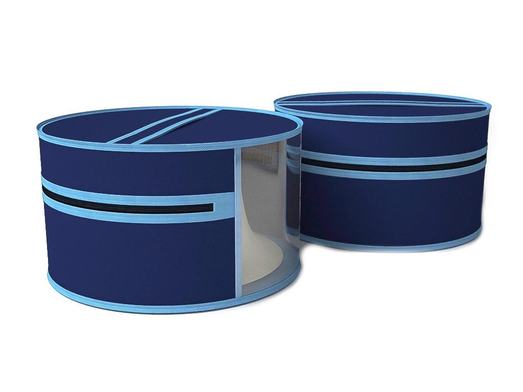 Чехол для шапок и аксессуаров Cofret Классик d-35 Blue 1716 аксессуар короб для сапог и полусапожек cofret 26x52x12cm 0135