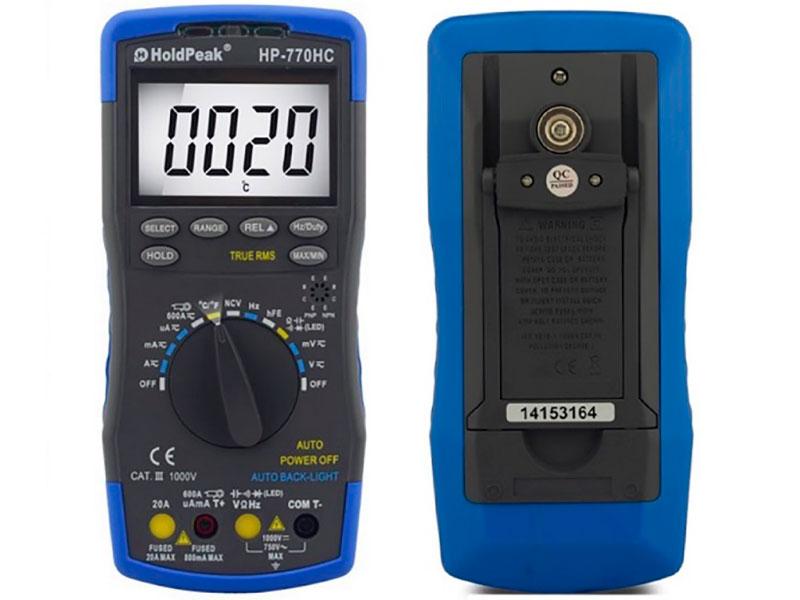 Мультиметр HoldPeak HP-770HC фото