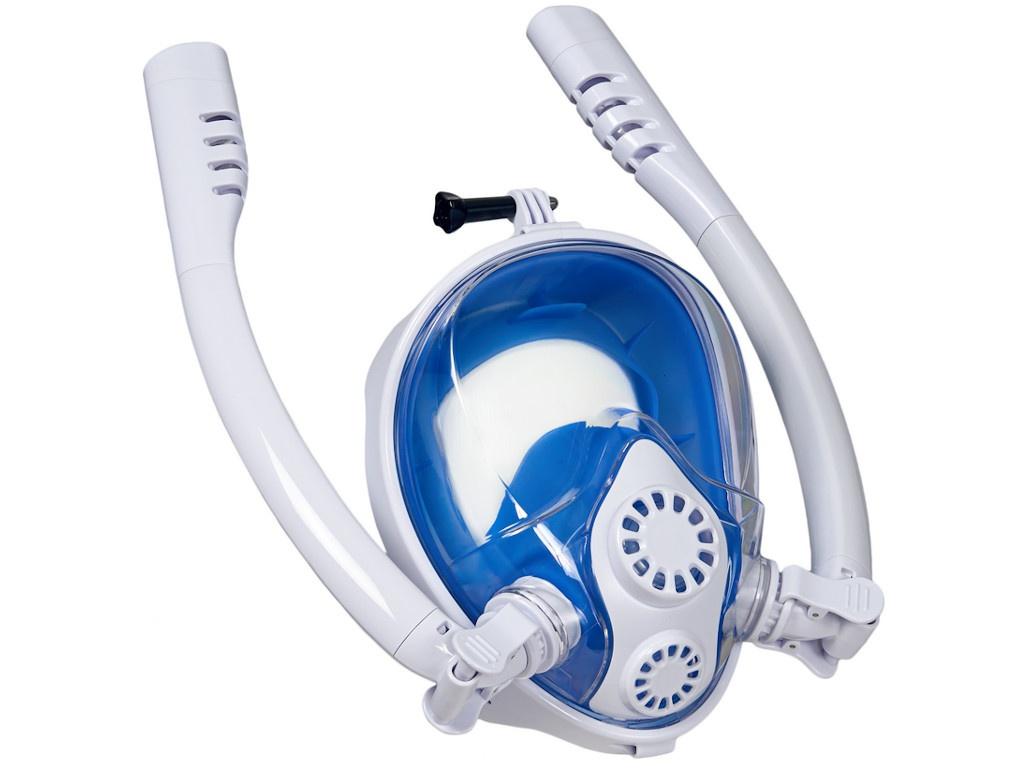 Фото - Полнолицевая маска для снорклинга Bradex с двумя трубками S SF 0553 маска для снорклинга bradex l light blue sf 0370