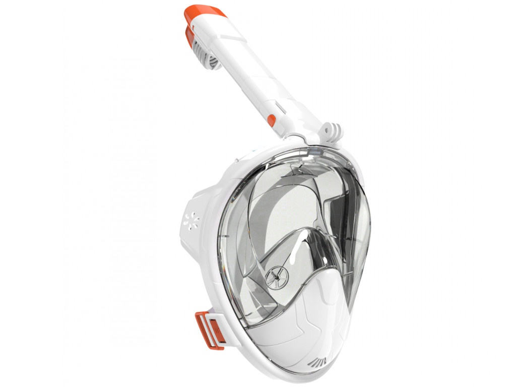 Полнолицевая маска для снорклинга Bradex со складной трубкой L SF 0550