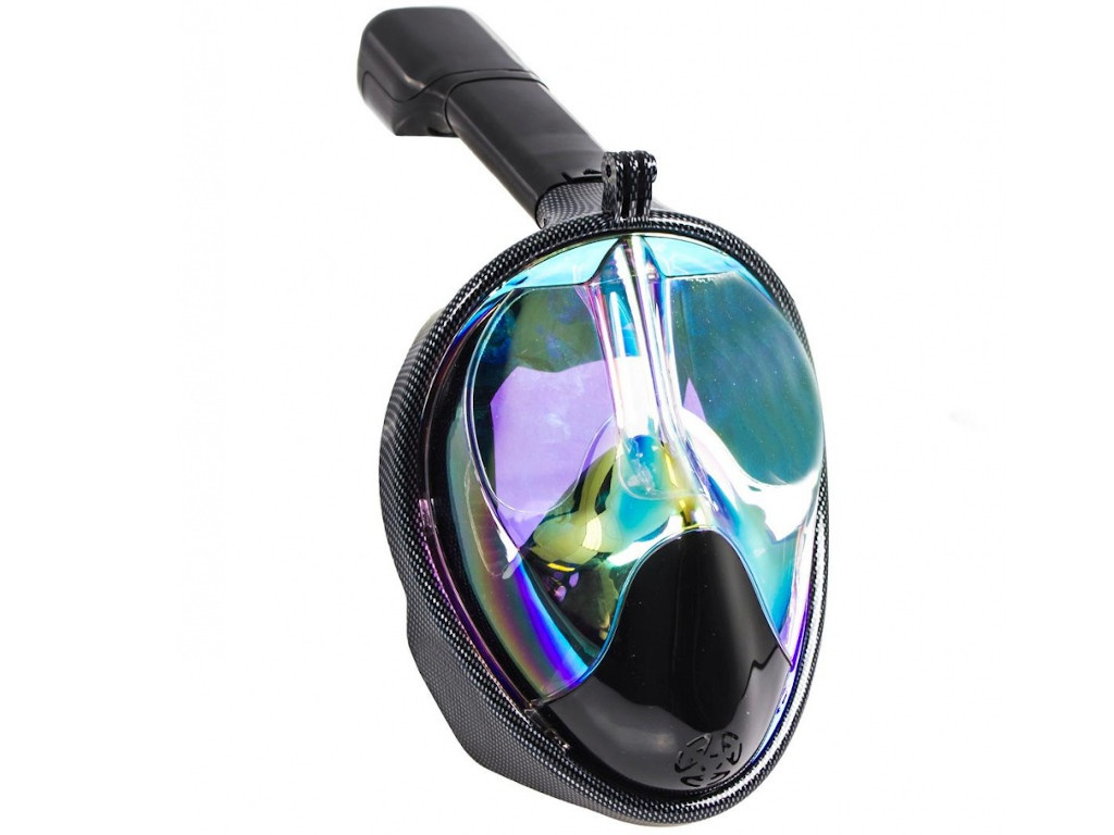 Фото - Полнолицевая маска для снорклинга Bradex Затемненная с принтом S SF 0551 маска для снорклинга bradex l light blue sf 0370