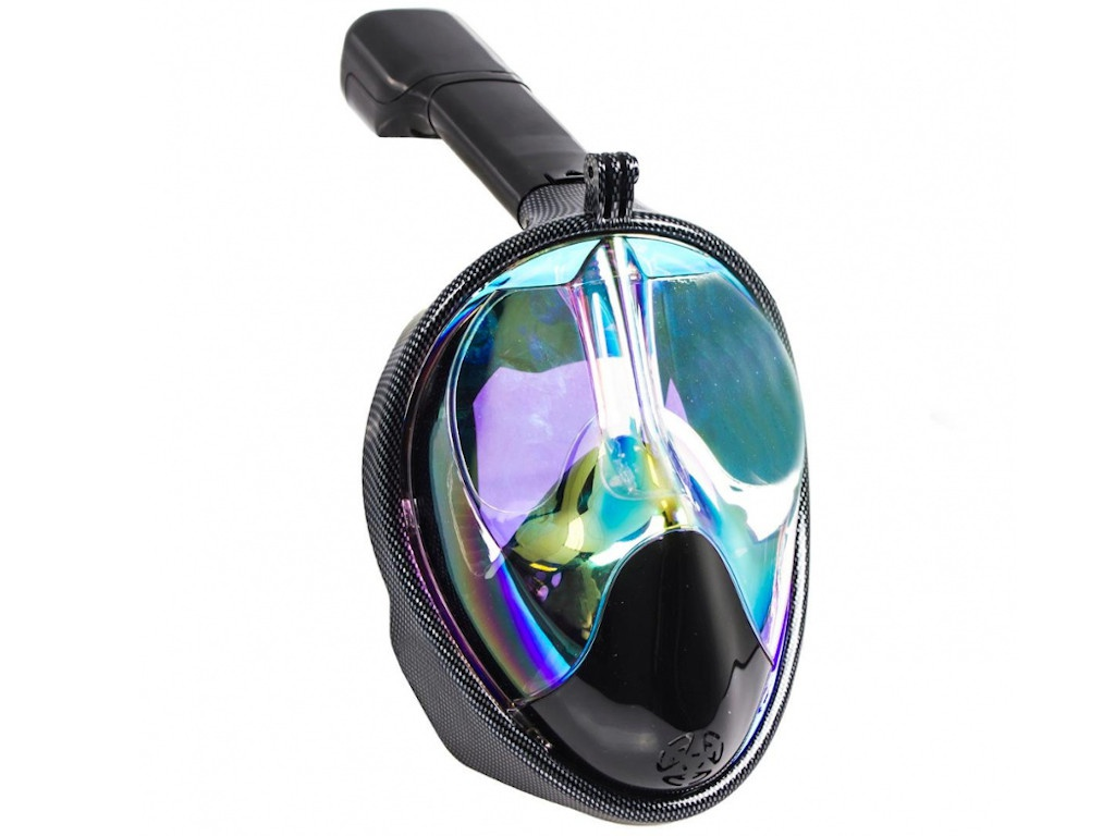 Полнолицевая маска для снорклинга Bradex затемненная с принтом L SF 0552