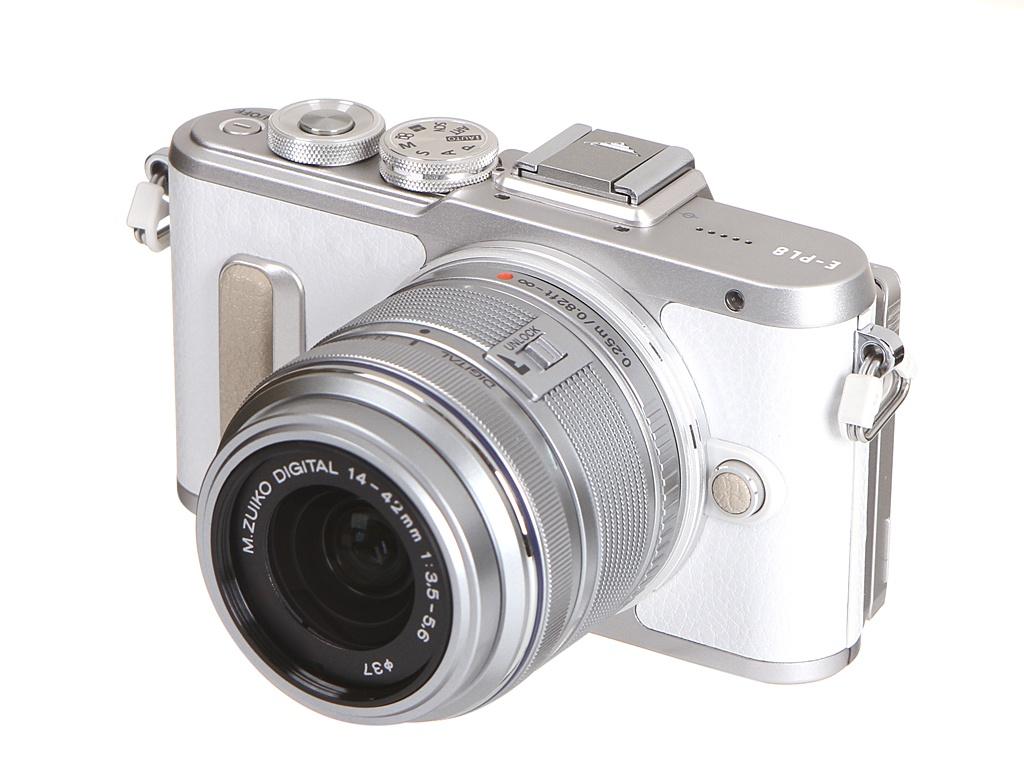 Фото - Фотоаппарат Olympus PEN E-PL8 Kit 14-42 mm II R White-Silver фотоаппарат olympus pen e pl8 kit белый 14 42mm f 3 5 5 6