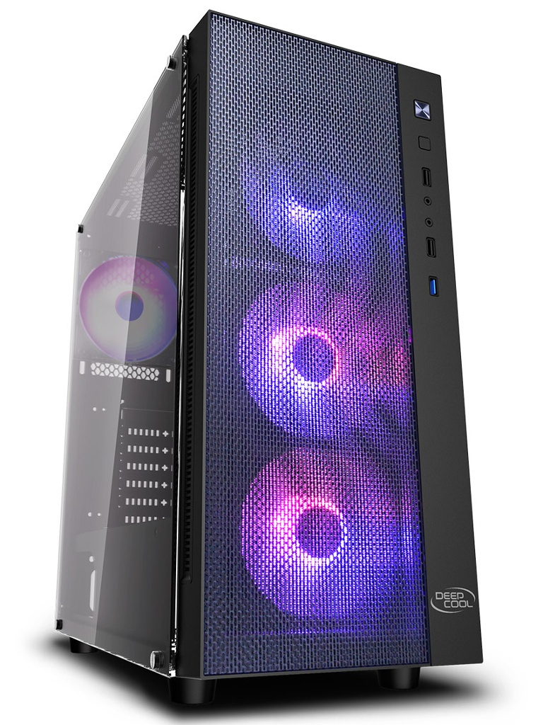 Корпус DeepCool Matrexx 55 Mesh ADD-RGB 4F ATX Black без БП