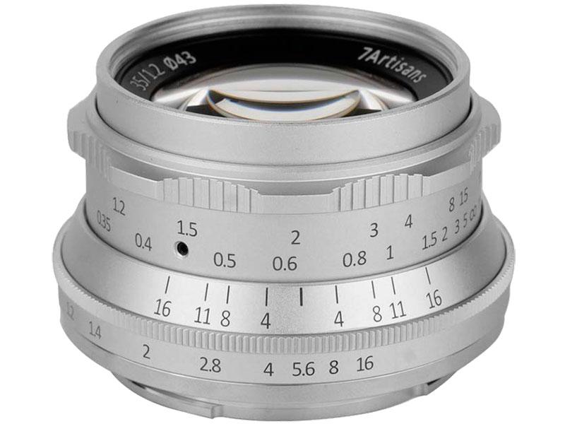 Объектив 7Artisans E-Mount 35 mm f/1.2 Silver 18002