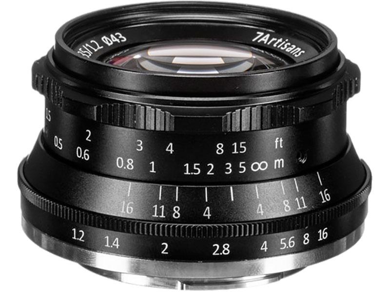 Объектив 7Artisans X-Mount 35 mm f/1.2 Black 18000