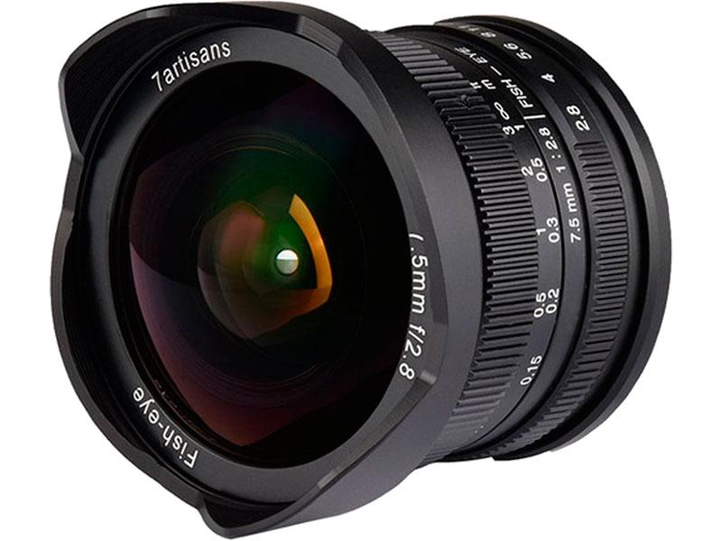 Фото - Объектив 7Artisans Micro 4/3 7.5 mm f/2.8 Fisheye Black 17983 объектив