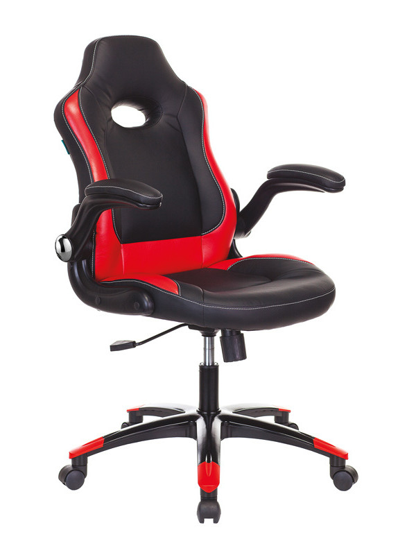 Компьютерное кресло Бюрократ Viking-1N Black-Red /BL-RED