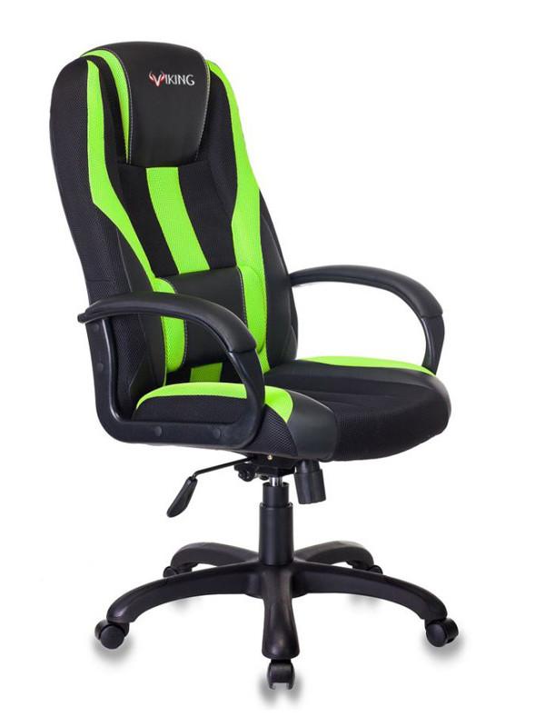 Компьютерное кресло Бюрократ Viking-9 Black-Light Green /BL+SD