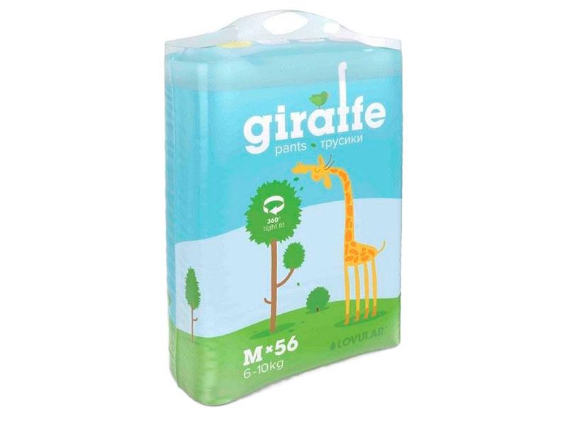 Подгузники Lovular Трусики Giraffe M 6-10кг 56шт 429048