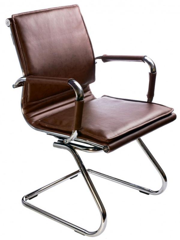 Компьютерное кресло Бюрократ CH-993-LOW-V металл/искусственная кожа Brown