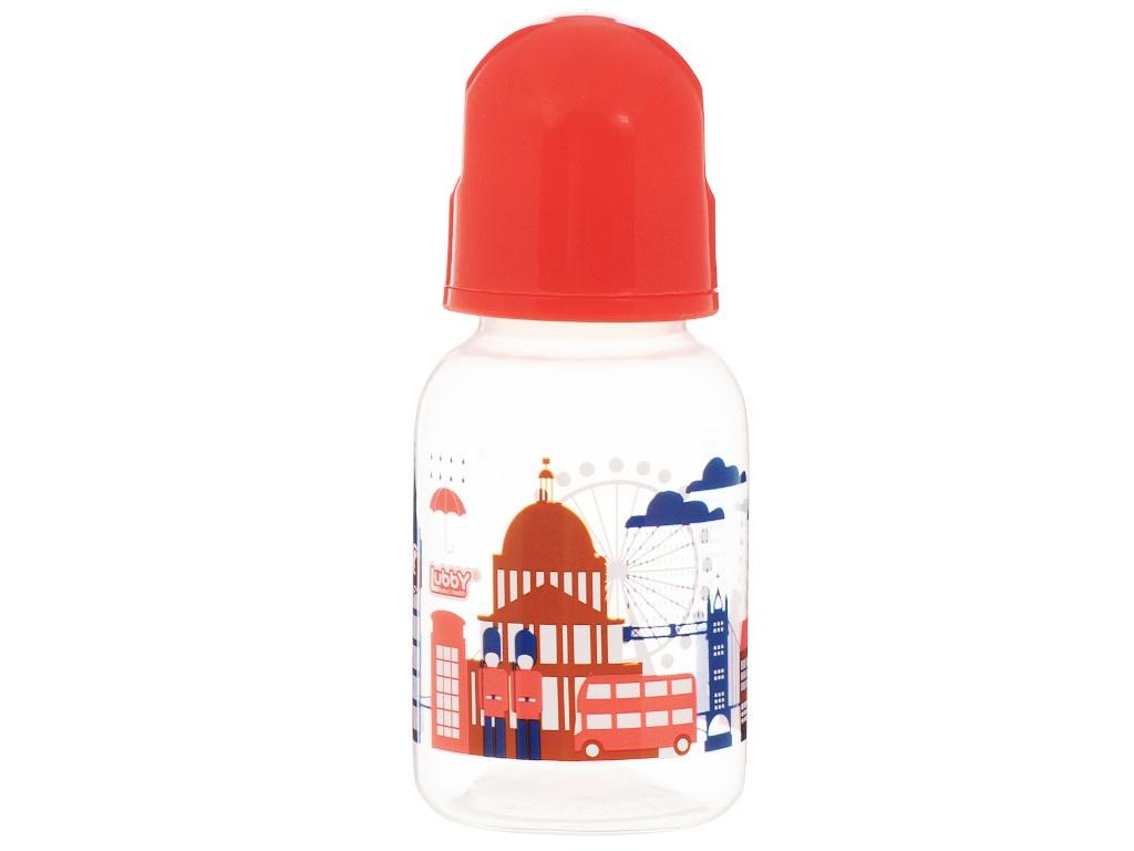 Бутылочка с соской Lubby Я люблю 125-130ml от 0 мес. Red 12020 lubby круг на шею для купания