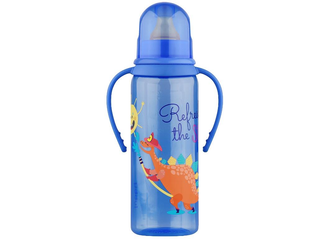 Бутылочка с соской Lubby 250ml от 0 мес. Blue 11389 lubby круг на шею для купания