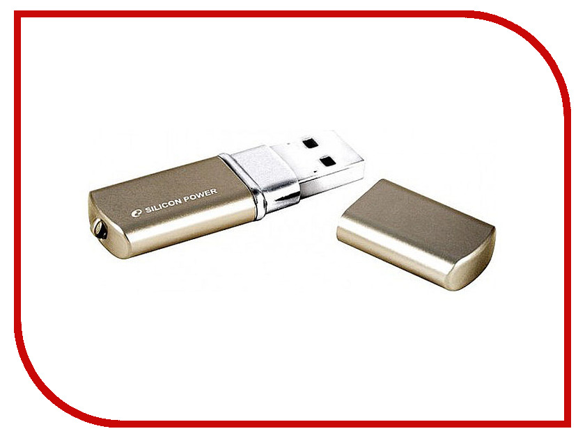USB Flash Drive 16Gb - Silicon Power LuxMini 720 Bronze SP016GBUF2720V1Z silicon power u30 rotatable cover usb 2 0 flash drive red silvery grey 16gb